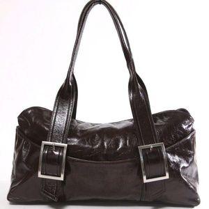 Kenneth Cole New York Black Leather Satchel